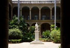 Havana Cuba, interior courtyard Stock Image