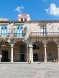 Arcades of the Palace of the Conde Lombillo. in the Cathedral Sq Stock Photos