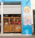 Bar La Bodeguita del medio, on Obispo street. Tourists walking i Stock Photos