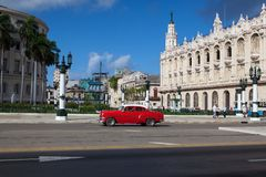 The Great Theatre of Havana, in Havana, Cuba. Royalty Free Stock Photo