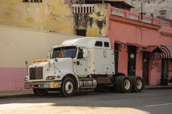 HAVANA, CUBA - JANUARY 20, 2013: Old classic American car drive Stock Photos
