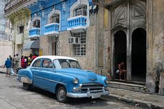 Havana, CUBA. JANUARY 14, 2016: Havana old classic American car on street of Havana,CUBA. Cuba - Havana. Cuba cars in Havana. Cuba, Havana historic. Editorial Royalty Free Stock Photo