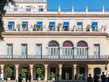 Palace of the General Captains on Plaza de Armas square in Old H. HAVANA, CUBA - JANUARY 16, 2017: Palace of the General Captains on Plaza de Armas square in Old Royalty Free Stock Photography