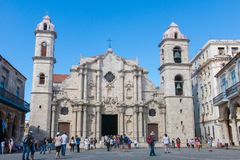Plaza de la Catedral English: Cathedral Square is one of the f Royalty Free Stock Photos