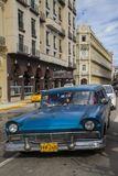 Havana, Cuba - 24 January 2013: The streets of Havana with very old American cars royalty free stock image