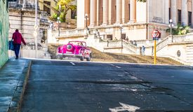 A typical view in Havana in Cuba stock images