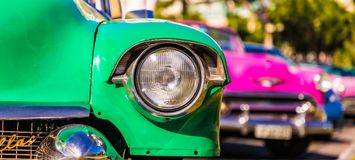 Vintage American cars in havana in Cuba stock photography