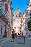 HAVANA, CUBA- JULY 14, 2014: View of group of children playing o Royalty Free Stock Photos
