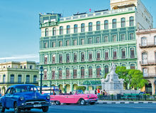 HAVANA, CUBA - JULY 14, 2016. View of restored Saratoga Hotel, b. Uilt in 1879 in Old Havana neighborhood across from the Capitolio Stock Images