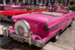 Havana, Cuba Kleurrijke klassieke jaren '50auto's stock fotografie