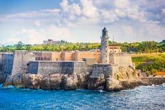 Havana, Cuba Fort. Havana, Cuba light house of La Cabana Fort royalty free stock photo