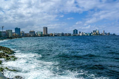 Havana,Cuba by Malecon street Stock Images