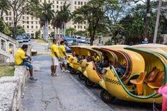 Coco Taxi Stand - Havana, Cuba stock photo