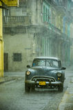 HAVANA, CUBA - MAY 31, 2013 Old American classic car drive in tr Stock Photography