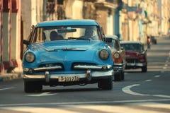 Havana, Cuba, 29 Mei, 2016: Uitstekende auto op de straat van Havana Royalty-vrije Stock Fotografie