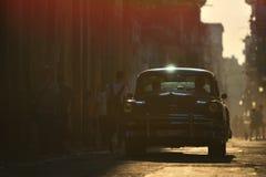 Havana, Cuba, 30 Mei, 2016: Uitstekende auto op de straat van Havana Stock Foto