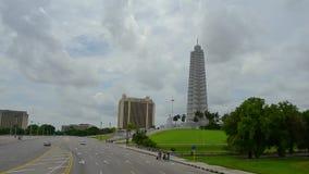 Havana Cuba mit blauem Himmel und weißen Wolken stock footage
