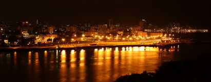 Havana, Cuba, at Night Royalty Free Stock Images