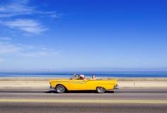 HAVANA,CUBA - NOVEMBER 9, 2015 : Vintage american car at the Mal. Econ avenue Royalty Free Stock Image