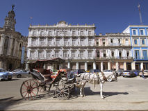 HAVANA, CUBA - OCT 20, 2011: The historic Hotel Inglaterra found Royalty Free Stock Images