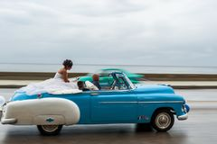 Free HAVANA, CUBA - OCTOBER 21, 2017: Old Car In Havana, Cuba. Retro Vehicle Usually Using As A Taxi For Local People And Tourist. Cari Royalty Free Stock Photos - 107050178