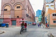 HAVANA, CUBA - OCTOBER 20, 2017: Havana Old Town Architecture. Colorful Buildings. Havana Old Town Architecture. Colorful Buildings stock photo