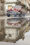 HAVANA, CUBA-OCTOBER 15:Old car on streets of Havana October 15, Royalty Free Stock Images