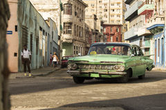 HAVANA, CUBA-OCTOBER 15:Old car on streets of Havana October 15, Royalty Free Stock Image