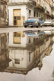 HAVANA,CUBA-OCTOBER 13:People and old car on streets of Havana O Royalty Free Stock Images
