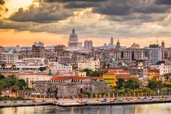 Havana, Cuba Old Town. Skyline Royalty Free Stock Images