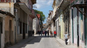 Havana, Cuba. One of the streets in Havana, Cuba Royalty Free Stock Image