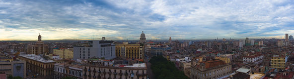 Havana, Cuba. Panorama with Capitol Stock Photo
