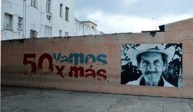 Havana, Cuba: Parte da resistência de série mural Imagem de Stock