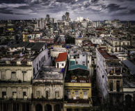 Havana, Cuba, Rooftop View Royalty Free Stock Photography