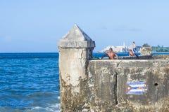 Havana Cuba seascape Stock Photography