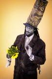 HAVANA, CUBA - SEPT 24, 2008: Artista da rua que executa no Ha imagem de stock royalty free