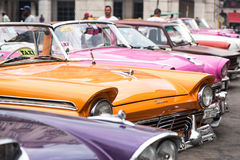Havana, Cuba - September 22, 2015: Classic american car parked o. N street of Old Havana,Cuba. Classic American cars are typical landmark and atraction for whole Stock Images