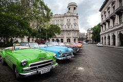 Havana, Cuba - September 22, 2015: Classic american car parked o. N street of Old Havana,Cuba. Classic American cars are typical landmark and atraction for whole Royalty Free Stock Photo