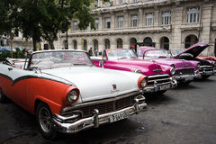 Havana, Cuba - September 22, 2015: Classic american car parked o. N street of Old Havana,Cuba. Classic American cars are typical landmark and atraction for whole Royalty Free Stock Photography