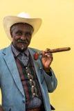 Havana, Cuba - September 27, 2015: Traditional Cuban man posing Stock Images