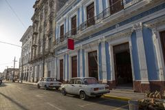Havana, Cuba. A side road right next to the famous Capitolio royalty free stock photography