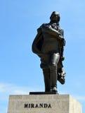 Havana, Cuba: Statue of Francisco de Miranda on the Malecon Stock Images