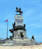 Havana, Cuba: Statue to Antonio Maceo Grajales, fighter for inde Royalty Free Stock Image