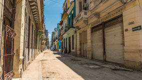 Havana Cuba Streets Perspective Royalty Free Stock Photo