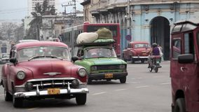 Havana, Cuba. Traffic in Havana, in Havana Central district