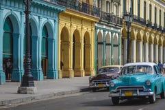 Havana, Cuba. Travel destinations, street scene old car in Havana, Cuba royalty free stock photo