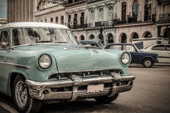 Havana, Cuba. Travel destinations, street scene old car in Havana, Cuba Royalty Free Stock Image
