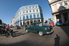 Havana Cuba Vintage Car Traffic Stock Image