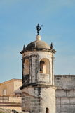 Havana, Cuba: watchtower of Castillo de la Real Fuerza, with iconic statue La Giraldilla royalty free stock photo