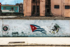 Havana Cuba Young Communist League Graffiti Stock Image